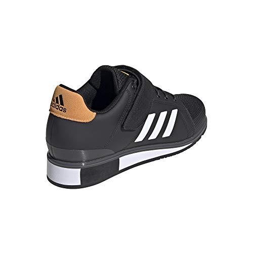 adidas Power III, Zapatillas Halterofilia para Hombre, NEGBÁS/FTWBLA/Dorsol, 42 2/3 EU