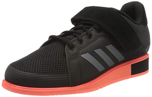 adidas Power III, Zapatillas para Hombre, Core Black/Night Met./Signal Coral, 42 2/3 EU