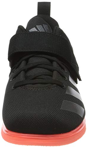 adidas Powerlift 4, Zapatillas de Deporte para Hombre, Negro (Core Black/Night Metallic/Signal Coral), 45 1/3 EU