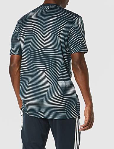 adidas Real Madrid Pre-Match Jersey, Hombre, Gris (Tech Onix/Core White), M