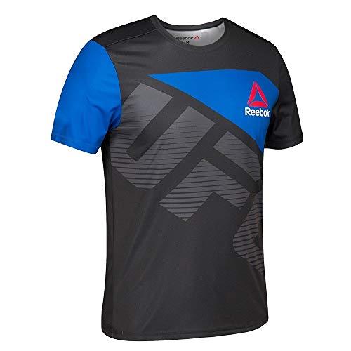 adidas Ronda Rousey UFC Reebok Black Royal - Camiseta Oficial para Hombre, XXL, Negro