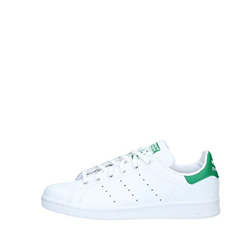 adidas Stan Smith J Zapatillas Unisex Niños, Blanco (Footwear White/Footwear White/Green 0), 37 1/3 EU