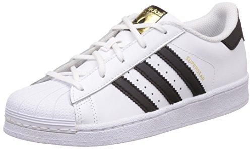 adidas Superstar C, Zapatillas de Baloncesto Unisex Niños, Blanco (Footwear White/Core Black/Footwear White 0), 33 EU