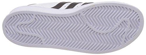 adidas Superstar, Zapatillas de Baloncesto Unisex Niños, Blanco (Footwear White/Core Black/Footwear White 0), 32 EU