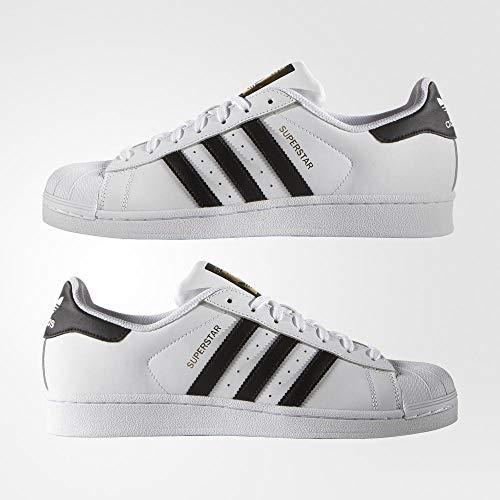 adidas Superstar, Zapatillas de deporte Unisex Adulto, Blanco (Ftwr White/Core Black/Ftwr White), 37 1/3 EU