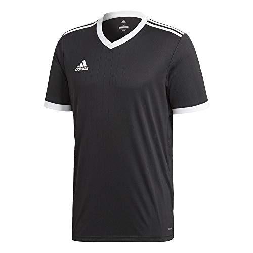 adidas TABELA 18 JSY Camiseta de Manga Corta, Hombre, Black/White, M