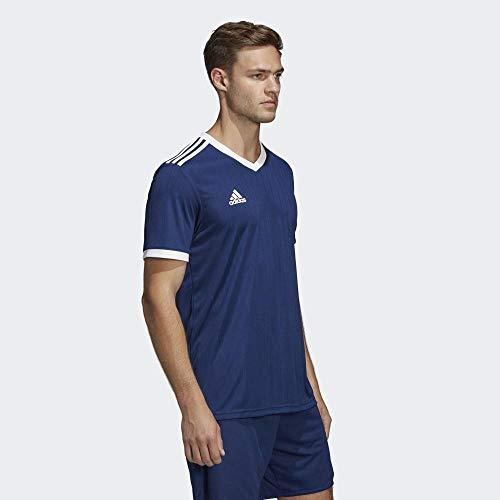 adidas TABELA 18 JSY Camiseta de Manga Corta, Hombre, Dark Blue/White, L