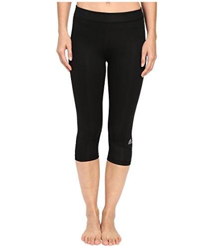 adidas Techfit Capris Mallas, Mujer, Multicolor (Negro/Plamat), S