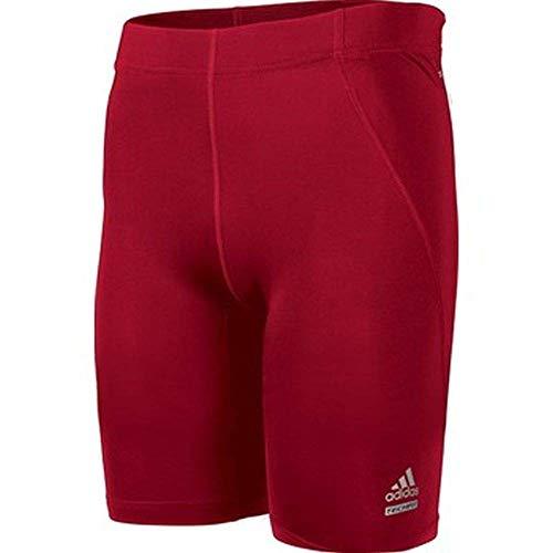 adidas Techfit C&S - Mallas Cortas para Hombre, Atlético, Large, Rojo (Power Red)