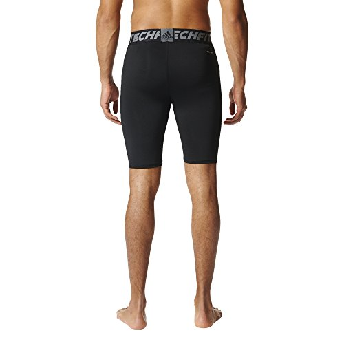 adidas Techfit - Mallas cortas para entrenamiento para hombre, talla XXL, color negro