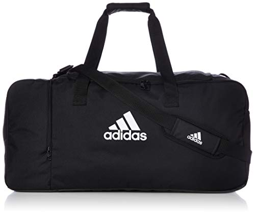 adidas Tiro DU L - Bolsa de deporte, Unisex Adulto, Negro/Blanco, 70 x 32 x 32 cm