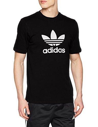 adidas Trefoil T-Shirt T-Shirt, Hombre, Black, L
