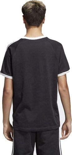 adidas Tres Bandas Camiseta de Manga Corta, Hombre, Negro (Black), XS
