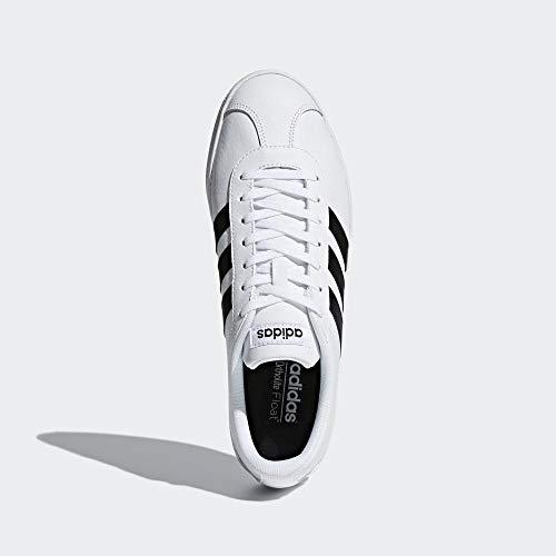 Adidas VL Court 2.0, Zapatillas para Hombre, Blanco (Footwear White/Core Black/Core Black 0), 43 1/3 EU