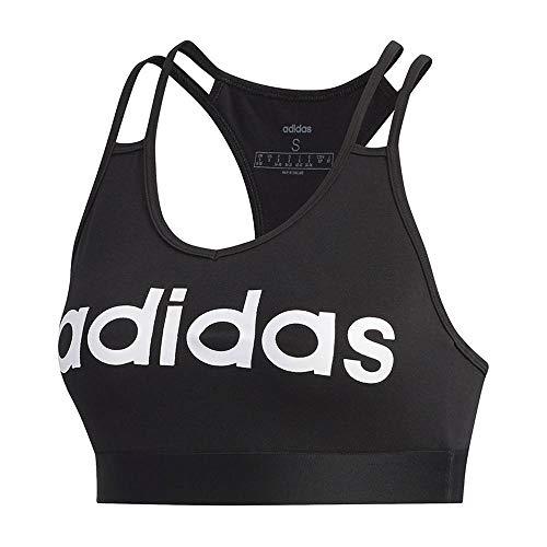 adidas W E BT Sujetador de Deporte, Mujer, Black/White, S