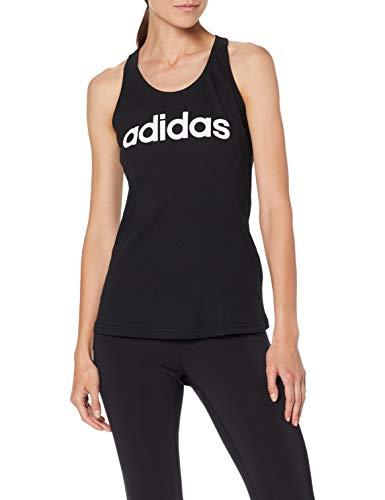adidas W E Lin Slim TK Camiseta sin Mangas, Mujer, Black/White, S