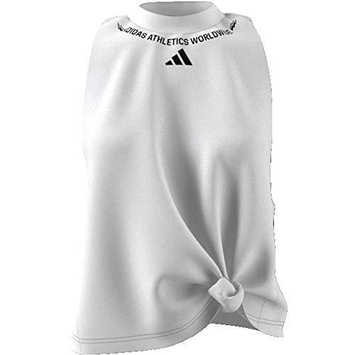 adidas W SL Graph tee Camiseta sin Mangas, Mujer, White, M