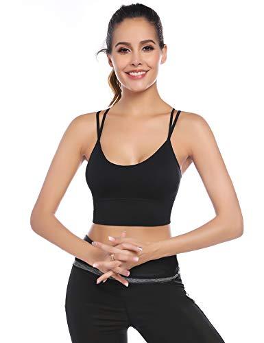 Aibrou Sujetador Deportivo Mujer Push Up (1/2/3pack) con Almohadillas Extraíbles,Bra Deporte sin Costuras para Yoga/Fitness/Run/Ejercicio/USA de Diaria