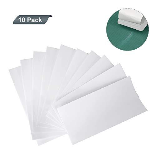 AIEVE - Cinta de reparación de tienda de campaña, 10 unidades, impermeable, tenaz y flexible, para reparación de tiendas de campaña, mochilas, toldos, margaritas y colchones inflables, blanco