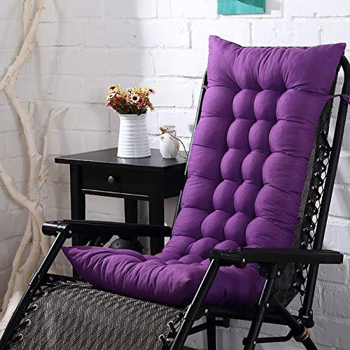 AINIYUE Cojines de Tumbona, Cojines reclinables de Respaldo Suave, Cojines de Tumbona reclinables, para Camas, sofá, colchonetas Gruesas, 48x125 cm de Color Morado Oscuro