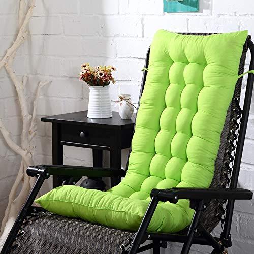 AINIYUE Cojines para sillas de Exterior, colchoneta para Mecedora, Cojines para Asientos de Cojines para sofá, para Cojines de Silla de Oficina de Hotel sin Silla 110x40 cm Verde