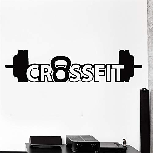 Ajcwhml Muur Sticker Sport Crossfit Barbell Dumbell Bodybuilding Vinyl Decal Verde M 28cm x 125cm