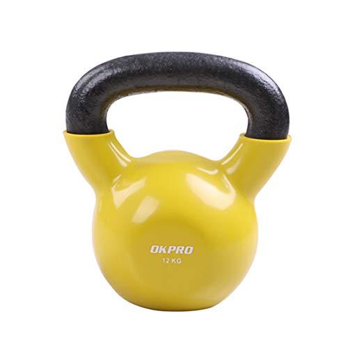 AKT Kettlebell Campana de la Caldera Profesión Entrenamiento Muscular Equipamiento Deportivo para el Hogar Pesas de Gimnasia Entrenamiento de Fuerza de Levantamiento de Pesas,16kg