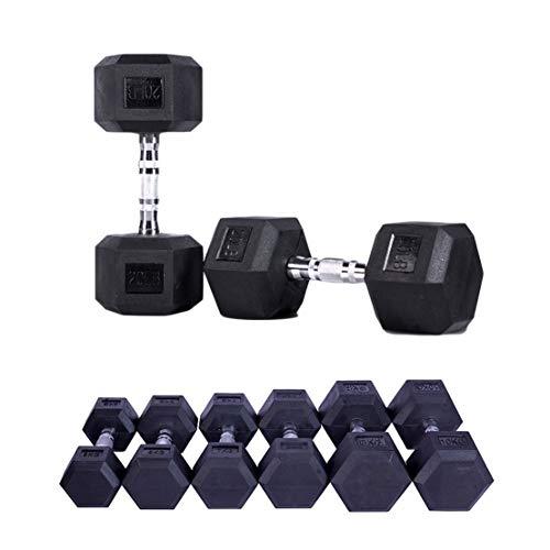 AKT Mancuernas Hexagonales de Goma 1 PC - 2.5kg a 15kg Inicio Gimnasio Fitness Ejercicio Entrenamiento Entrenamiento Equipo de Entrenamiento Entrenamiento Brazo Músculo Fitness,15kg