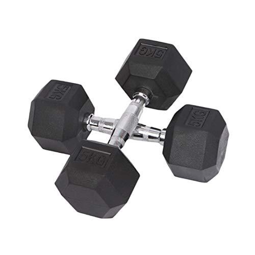 AKT Mancuernas Hexagonales de Goma 1 PC - 2.5kg a 15kg Inicio Gimnasio Fitness Ejercicio Entrenamiento Entrenamiento Equipo de Entrenamiento Entrenamiento Brazo Músculo Fitness,2.5kg