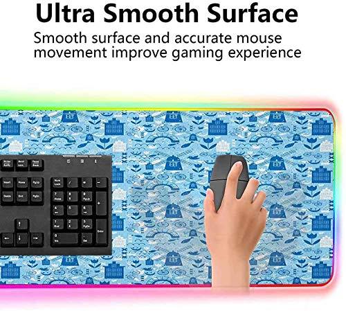 Alfombrilla de ratón extendida, Elements from Nature and Architec, alfombrilla de teclado de computadora extendida con bordes cosidos duraderos y, alfombrilla de mouse optimizada para jugadores