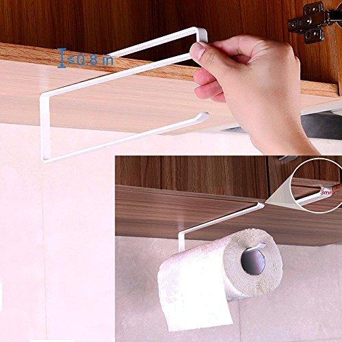 Alliebe rollo de papel toalla de papel titular dispensador bajo armario Rack soporte sin taladrar para cocina y baño