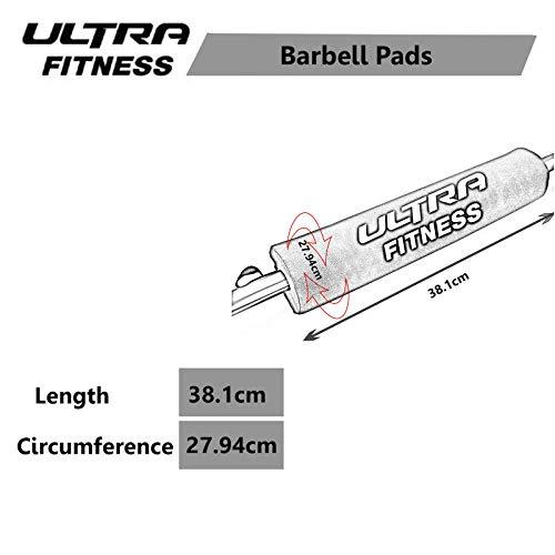 Almohadilla para barra: almohadilla profesional para levantamiento de pesas con correa de cierre segura. (rosado)