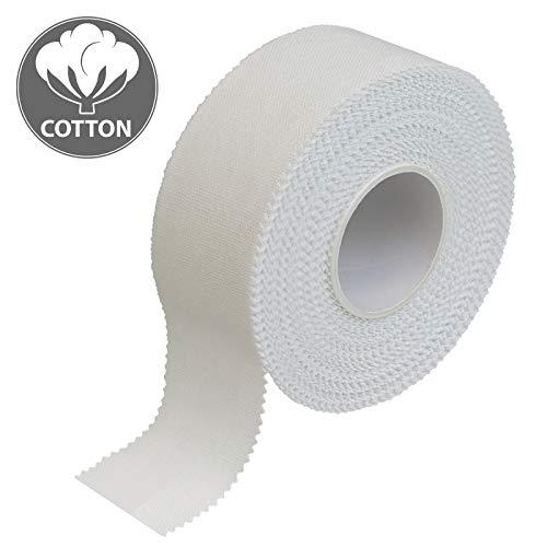 ALPIDEX 12 x Sport Tape 2.5 cm x 10 m Cinta Adhesiva Deportiva Blanca
