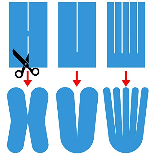 ALPIDEX Cinta Kinesiología Tape 5 m x 5 cm Cinta Muscular E- Book Ejemplos Aplicación, Color:negro, Cantidad:1 rollo