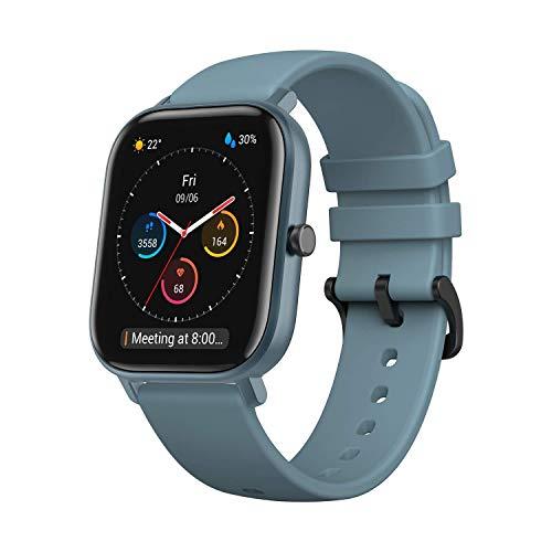 Amazfit GTS Reloj Smartwactch Deportivo | 14 días Batería | GPS+Glonass | Sensor Seguimiento Biológico BioTracker™ PPG | Frecuencia Cardíaca | Natación | Bluetooth 5.0 (iOS & Android) Azul