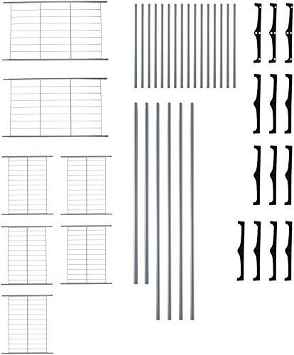 AmazonBasics - Armario móvil con doble barra, Plateado