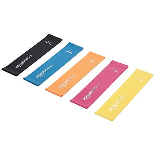 AmazonBasics – Bandas de resistencia de látex, 600 mm, juego de 5 uds.