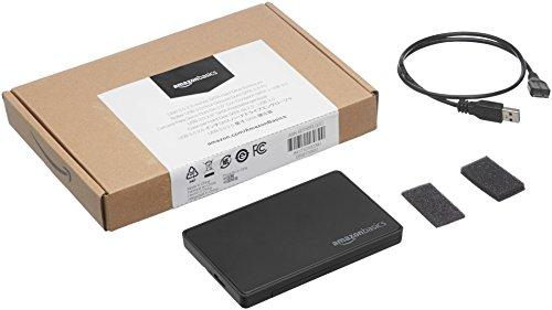 AmazonBasics - Caja para disco duro SATA, 2,5 pulgadas (6,35cm) - USB 3.0