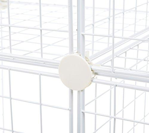 AmazonBasics - Estantes de almacenamiento, Cuatro cubos, de alambre - Blanco