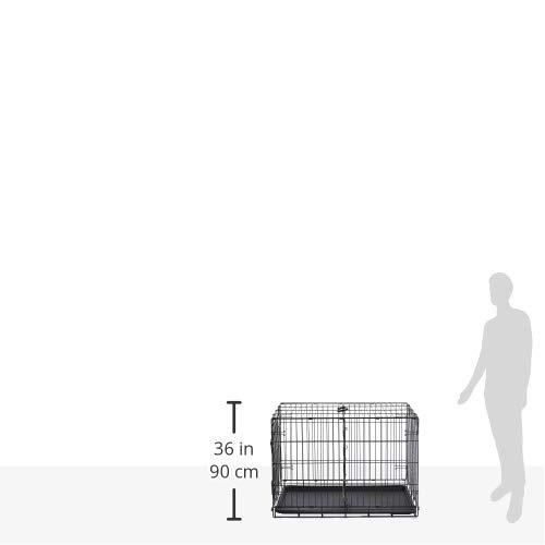 AmazonBasics - Jaula plegable de metal para mascota (una puerta, 91 cm largo)