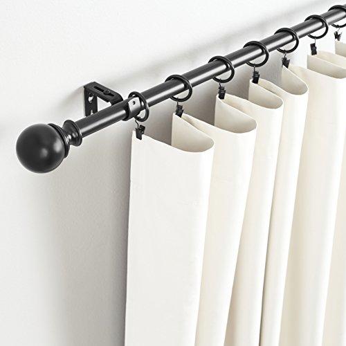 AmazonBasics - Set de 2 soportes ajustables de pared - Negro