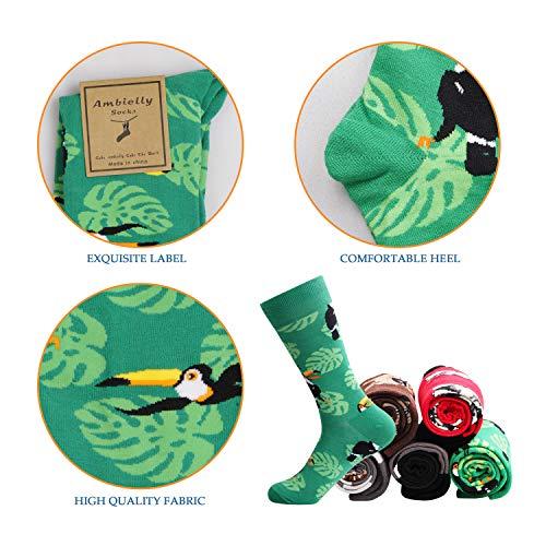 Ambielly Hombres Gracioso Calcetines Vistoso Algodón Novedad Personal Calcetines Estampado Miedoso Moda Casual Vestido Calcetines (LB00007B)