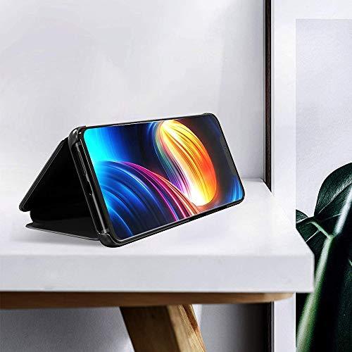 ANWEN Para Samsung Galaxy Note 20 Ultra Funda, Translúcido Espejo Standing Cover Slim Fit Anti-Shock Anti-Rasguño Mirror 360°Protectora Flip Funda para Samsung Galaxy Note 20 Ultra-Oro Rosa