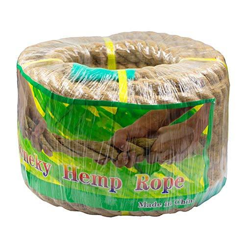Aoneky Cuerda de Yute Natural - 20/22/25/30/40/50mm, 15/30M, Cuerda Gruesa de Cáñamo Torcida para Bricolaje, Cuerda Decorativa para Hogar Casa Jardín Deportes, Marrón (15M × 30mm)