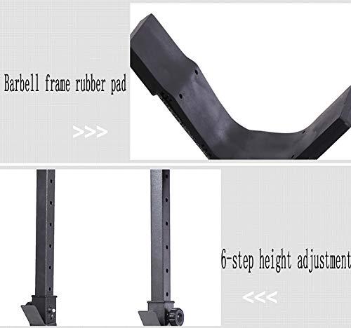 Aparato para Sentadillas, Estación Dip de Musculación Tipo Barras Soporte, Hombre Estante Multifuncional Soporte Ajustable Solo Vende estanterías
