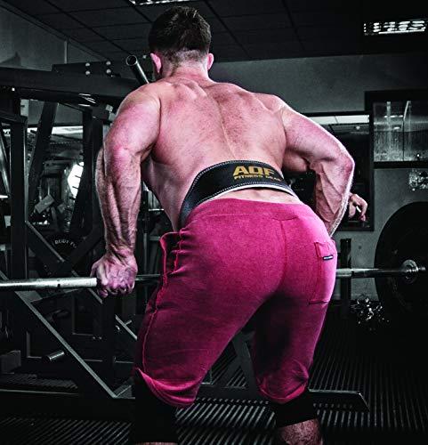 """AQF Cinturon Lumbar Gimnasio para Levantamiento De Pesas De Cuero Acolchado De 4""""Pulgadas para Musculación Ejercicio De Físico Culturismo"""