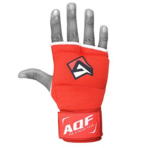 AQF Interno Guantes Vendas Boxeo MMA para Envolver Las Manos Vendas Guantes De Boxeo con Gel Mitones para Muay Thai con Estiramiento V2