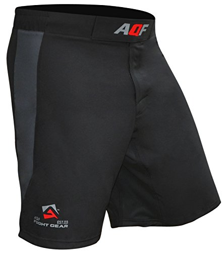 AQF Shorts Deportivos Hombre para Combates MMA Pantalones Muay Thai Shorts para Lucha En Jaula Kick Boxing Gimnasio Shorts Elásticos De Entrenamiento