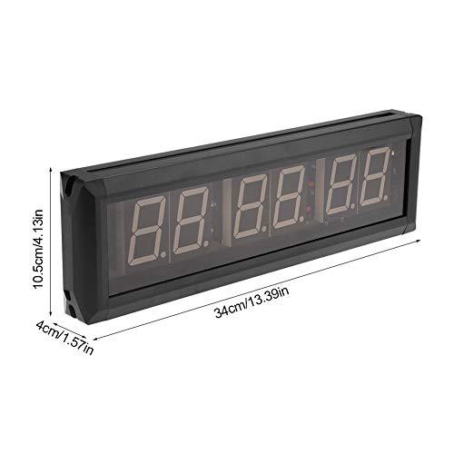"Aramox 1.8"" Reloj de Pared LED Gimnasio Temporizador de intervalos Cronómetro con Control Remoto IR(Azul)"
