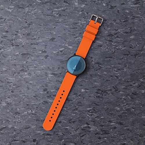 Archer Watch Straps | Repuesto de Correa Reloj de Silicona para Hombre y Mujer, Caucho Fácil de Abrochar para Relojes y Smartwatch | Naranja Portland, 24mm